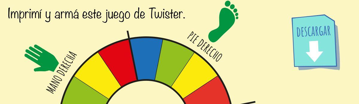 Para imprimir y armar el Twister
