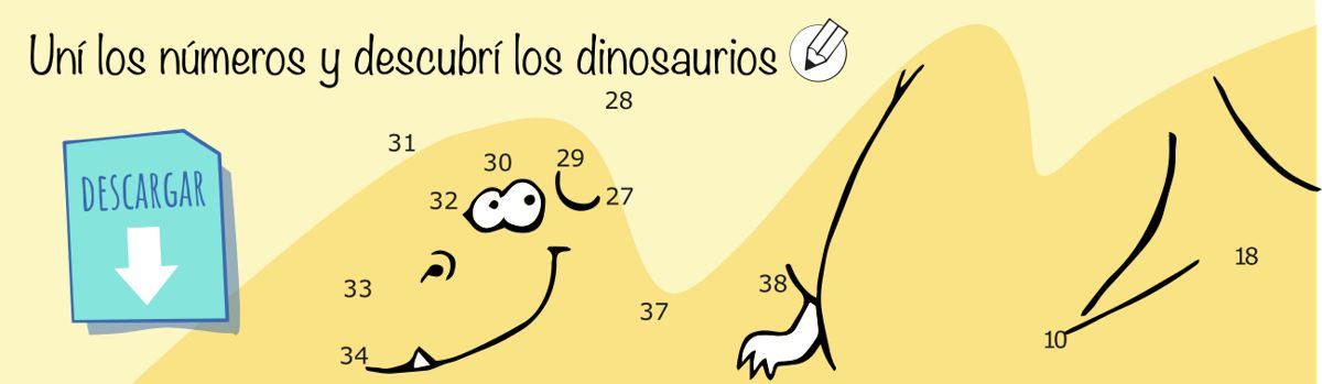 Unir y descubrir dinosaurios